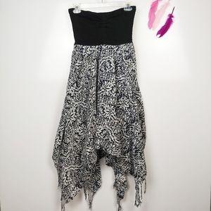 LG | BILLABONG Strapless Asymmetrical Dress